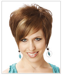 Short hairstyle for round face shape